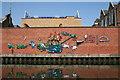TQ2581 : Mural alongside the Paddington Arm, Grand Union Canal by Dr Neil Clifton