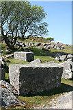 SX5373 : Dartmoor: worked granite by Martin Bodman
