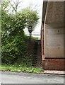 SO8435 : Steps by the motorway by Bob Embleton