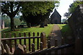 SO4200 : Churchyard at Pentre near Llangwm by Roger Davies