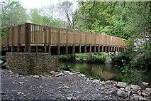 SX4970 : Footbridge over the River Walkham by Tony Atkin