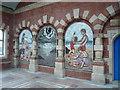 NZ3571 : Whitley Bay Metro Station - Mosaic Mural by Alan Heardman
