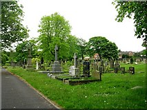 SE1321 : Rastrick Cemetery - Carr Green Lane by Betty Longbottom
