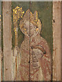 TG4028 : St Andrew's church - rood screen detail by Evelyn Simak