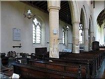 TG0400 : St Andrew's Church, Deopham, Norfolk - North arcade by John Salmon