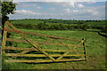 SS7408 : Gate into a silage field, Eastington by Philip Halling