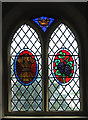 TG5011 : St Edmund's church - east window by Evelyn Simak