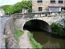 SE0125 : Rochdale Canal Bridge & Towpath - Burnley Road by Betty Longbottom