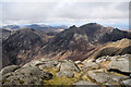 NR9941 : View north from Goat Fell summit by Bob Jones