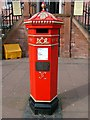 NY4055 : Replica Victorian pillar box outside the Old Town Hall by Rose and Trev Clough