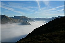 NY1618 : Rannerdale Knotts and Borrowdale by Steve Partridge
