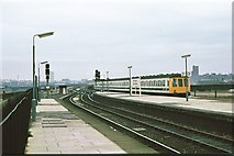SP0786 : Birmingham Moor Street approaches 1980 by Peter Whatley
