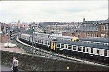 NS3421 : Smith Street carriage sidings, Ayr 1983 by Peter Whatley