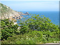 SW4424 : View down Lamorna Valley towards the cove by Rod Allday