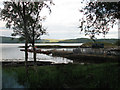 NM7709 : The Jetty at Shuna, from Pier House Garden by hel cruse