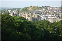 SH4762 : Caernarfon viewed from the folly by Philip Halling