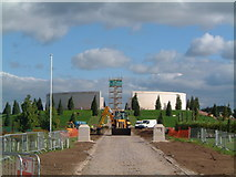 SK1814 : Armed Forces Memorial, under construction, September 2007 by Chris' Buet
