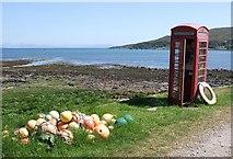 NM4099 : Phone Box, Kinloch, Rum by Rob Farrow