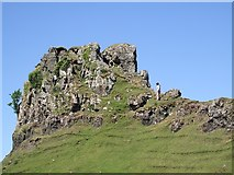 NG4162 : Castle Ewen from the south by Rob Farrow