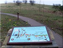NS5073 : Sign at Douglas Muir Wildlife Trail by Stephen Sweeney