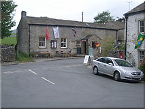 SD9062 : Road junction and village hall, Malham by Nick Mutton