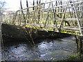 SN9284 : River Severn,Nantythebog footbridge. by kevin skidmore