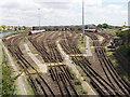 TQ1678 : Northfields tube depot by David Hawgood