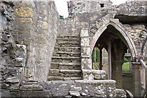 NO3524 : Dormitory Stairs, Balmerino Abbey by stephen samson