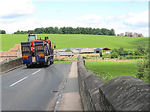 SO5819 : Truck on Kerne Bridge, crossing the River Wye by Pauline E