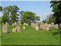NY7758 : The graveyard of Whitfield Church by Mike Quinn