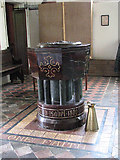 TM0099 : St Peter's church - Victorian baptismal font by Evelyn Simak