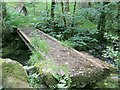 SN6806 : Footbridge over Lower Clydach River by Nigel Davies