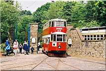 SK3455 : A 'Feltham' tram at Crich by Dr Neil Clifton