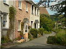 SX5548 : Cottages at Newton Ferrers by Mick Lobb