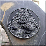 TL4097 : Time plaque on Millennium milepost by Keith Edkins