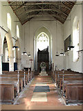 TF9434 : St Mary's church - view west by Evelyn Simak