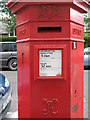 TQ2478 : Penfold postbox, Pembroke Gardens, W8 - royal cipher and crest by Mike Quinn