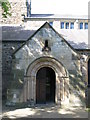 NY9864 : The porch of St Andrew's Church by Mike Quinn