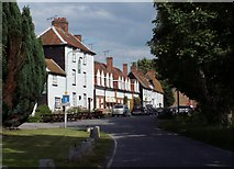 TQ9293 : The pub and cottages at Paglesham Churchend by Robert Edwards