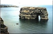 NZ4064 : Marsden Rock (1974) by Stanley Howe