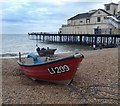 SZ9398 : Fishing boats on Bognor Regis beach by Steve  Fareham