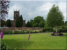 SJ9214 : Village Green and St. Michael's Church, Penkridge by Geoff Pick
