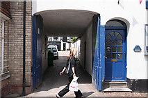 ST0207 : Cullompton:  entrance to St John Court by Martin Bodman