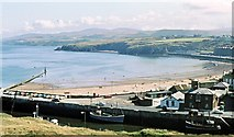 SC2484 : Harbour and beach at Peel by Gordon Hatton
