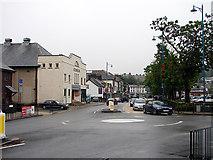 SH5639 : Tesco roundabout, High Street Porthmadog by John Lucas