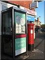 SZ0694 : East Howe: postbox № BH10 142, Kinson Road by Chris Downer