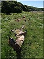 SW8160 : Remains of boat near The Gannel by Derek Harper