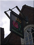TL4658 : The Rose & Crown - sign by Keith Edkins