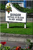 J5081 : 'Britain in Bloom' sign, Bangor by Rossographer