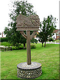 TG0934 : Village sign by Evelyn Simak